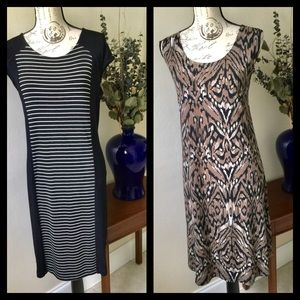 Chico's 2 For 1 Summer Shift Dresses Size 16